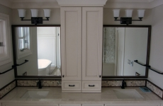 Framed-vanity-mirrors-with-oil-rubbed-bronze-frames