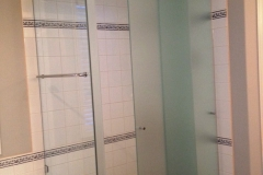 corner shower door with roof 2