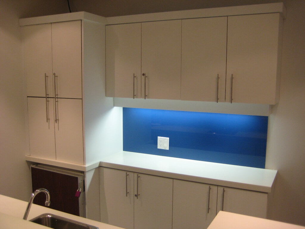 blue back painted glass pictures to pin on pinterest