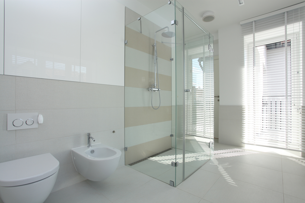 Design Your Shower Enclosure With Back Painted Glass To Eliminate Grout Lines - House of Mirrors - Back Painted Glass
