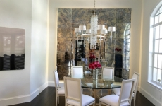 Dining Room - Antique Mirrored Wall