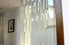 Textured-glass-partition