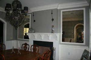 Antique-framed-mirrors-in-dining-room-300x199